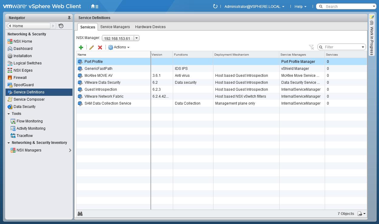 McAfee MOVE with NSX Install Guide | esxsi com
