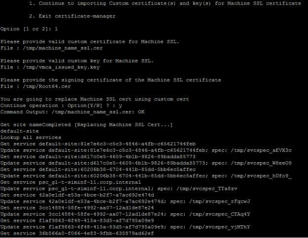 Installing vCenter Internal CA signed SSL Certificates | esxsi com
