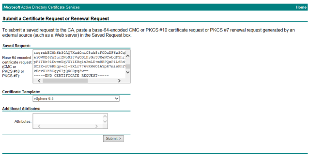 Installing vcenter internal ca signed ssl certificates esxsi click submit and then select base 64 encoded and download certificate and download certificate chain a cer file will be downloaded i have renamed this yadclub Choice Image