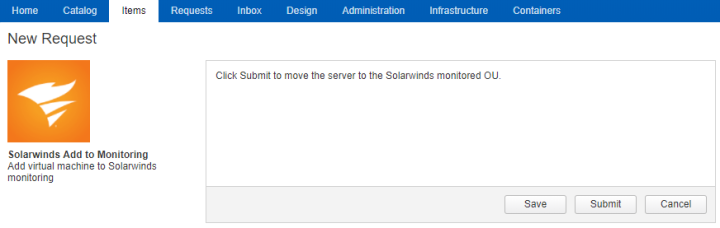 Solarwinds_vRA